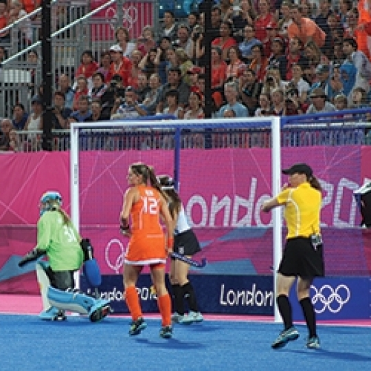 London 2012 Blue Weighted Hockey Goals