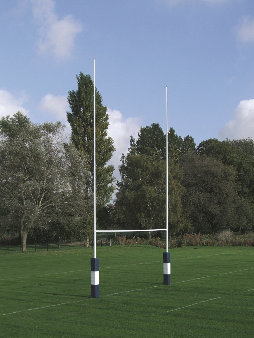 Socketed No.2a Steel Rugby Posts